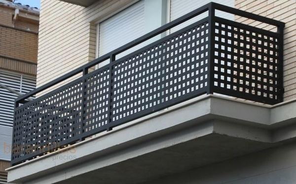Barandas metalmasa Balcones madera exterior